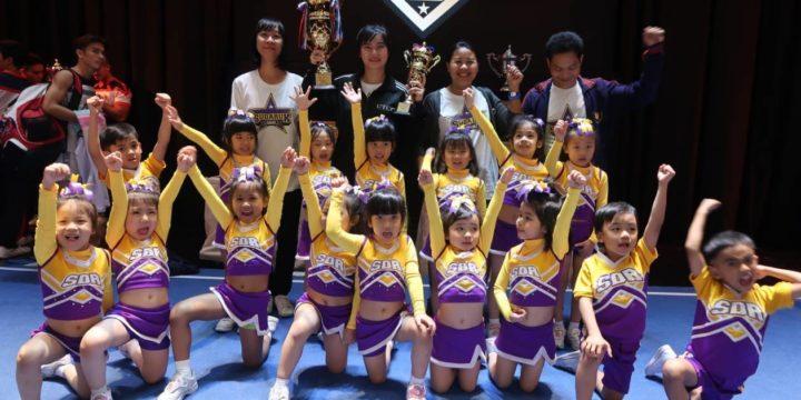 รางวัลรองชนะเลิศอันดับที่ 2 การแข่งขัน Cheerleading 3rd place age 3-7