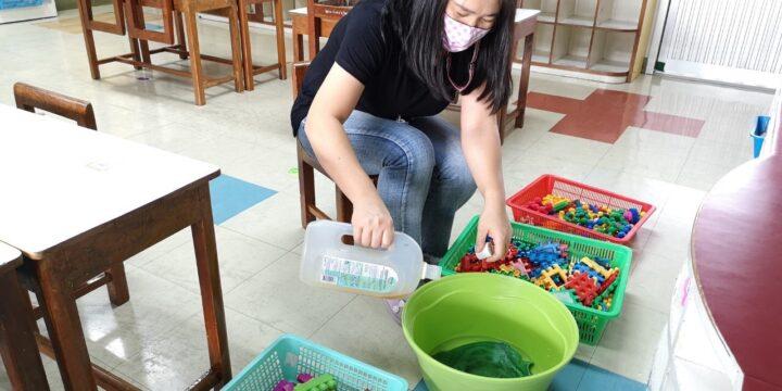 เตรียมพร้อมกับการทำความสะอาดสถานที่ ห้องเรียน